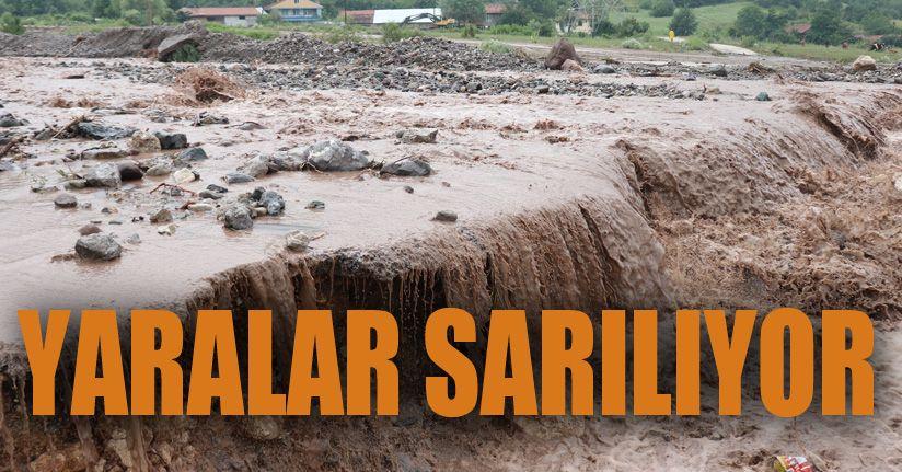 Bolu'da, sel sonrası çalışmalar devam ediyo
