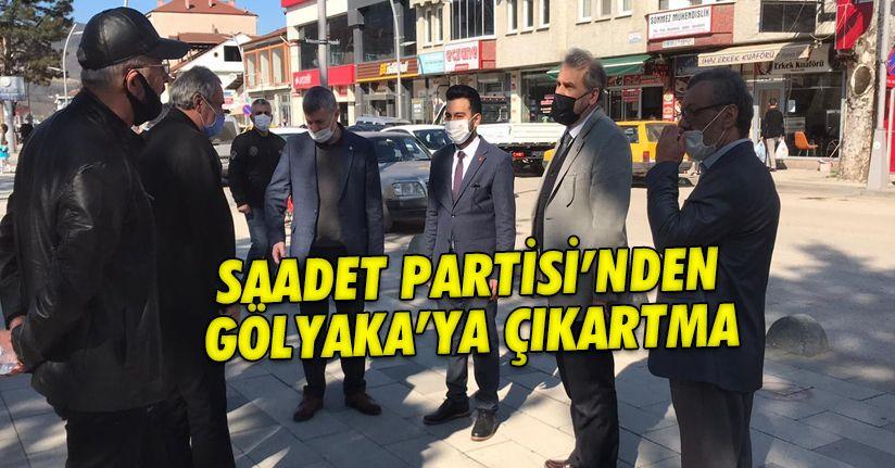 Saadet Partisi Gölyaka'ya çıkartma yaptı