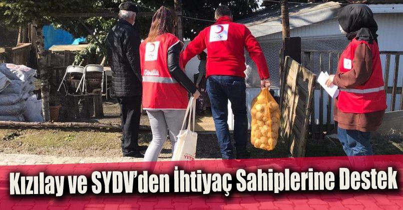 Kızılay ve SYDV'den ihtiyaç sahiplerine destek