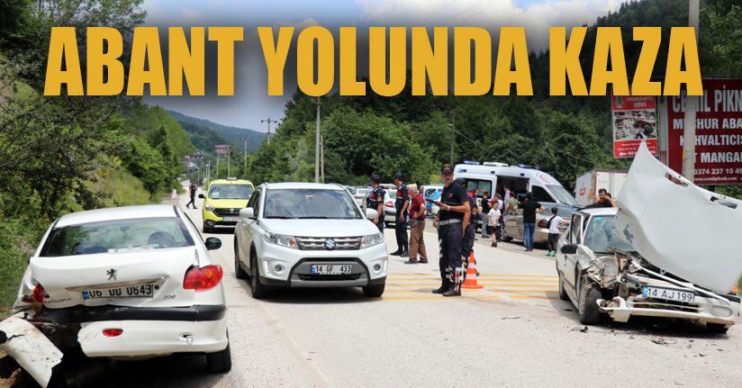 Abant yolunda kaza: 4 yaralı