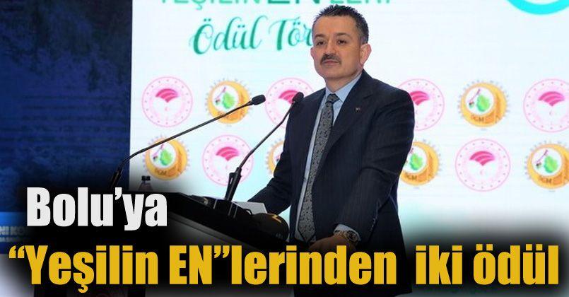 """Bolu'ya """"Yeşilin EN""""leri 2020 ödül töreninde iki ödül"""