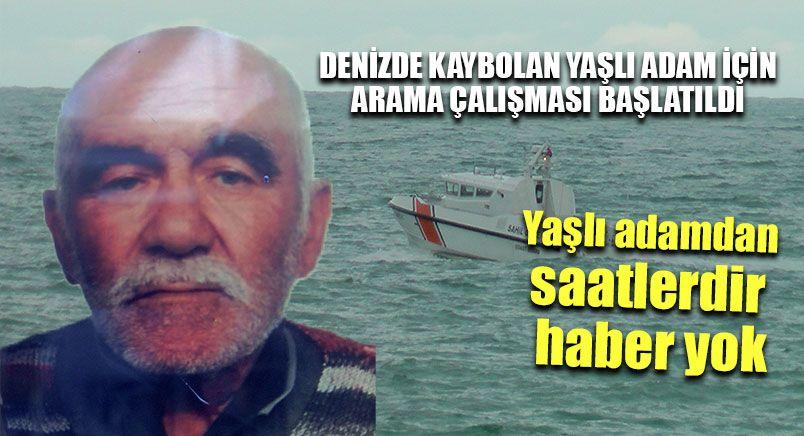 Denizde Kaybolan Yaşlı Adam İçin Arama Çalışması Başlatıldı
