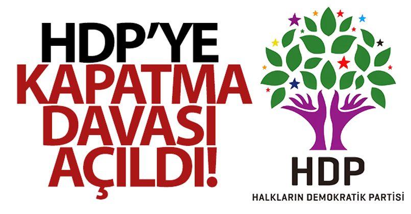 HDP'nin kapatılması istemiyle Anayasa Mahkemesine dava açıldı