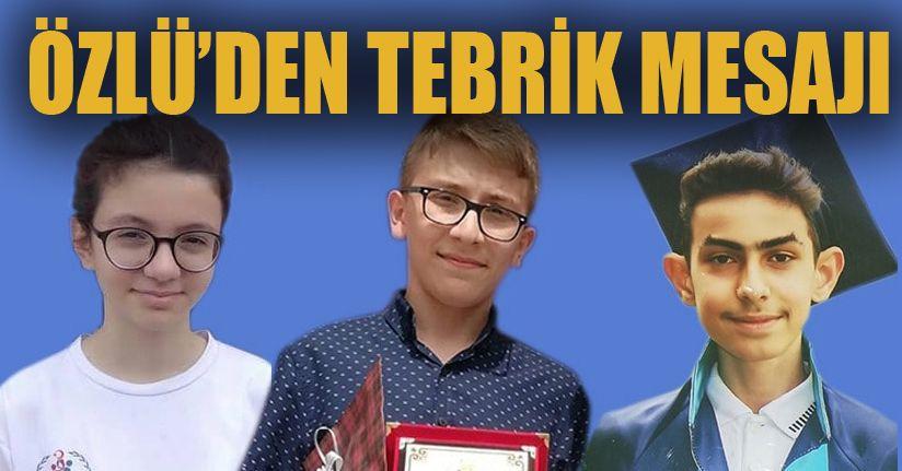 Türkiye Birincisi Öğrencilere Özlü'den Tebrik