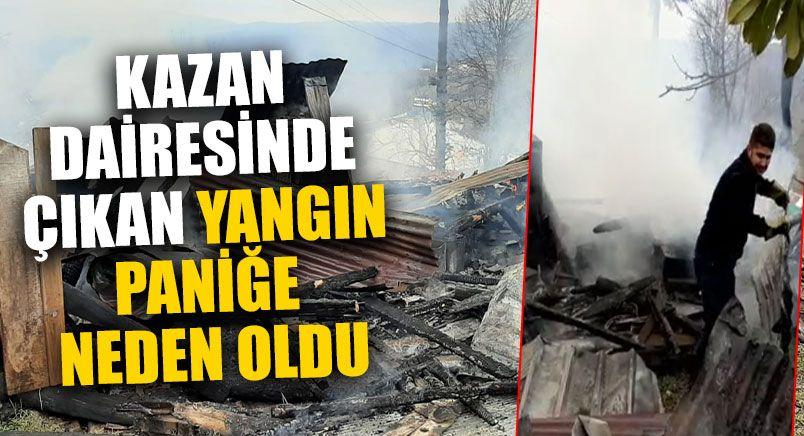Kazan Dairesinde Çıkan Yangın Korkuttu