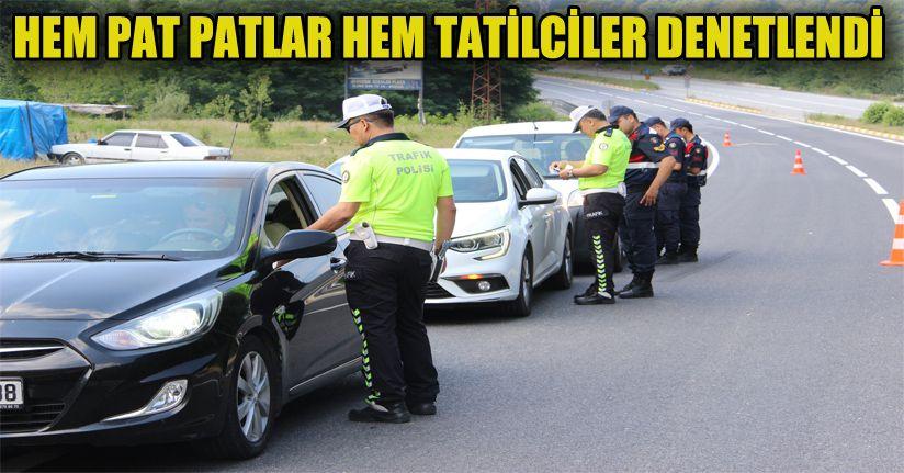 Tatilcilerin güvenliği için Düzce jandarma ve trafik ekipleri birlikte uygulama yaptı