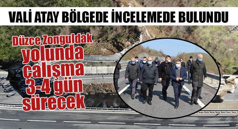 Çöken Düzce Zonguldak Yolunda İnceleme