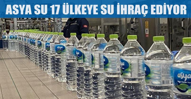Asya su hem Türkiye'ye hem Dünya'ya su üretiyor