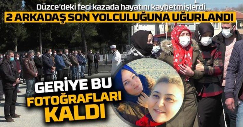 Akçakoca'da hayatını kaybeden 2 kadın memleketlerinde toprağa verildi