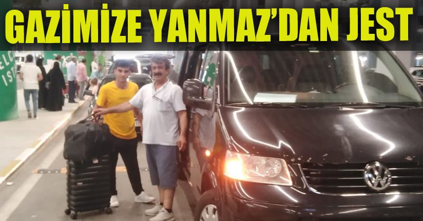 Başkan Afrin Gazisini makam aracı ile aldırdı
