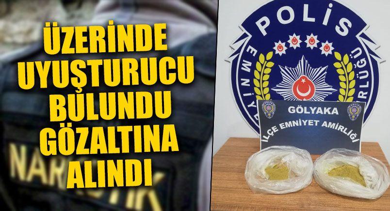 Üzerinde Uyuşturucu Bulununca Gözaltına Alındı