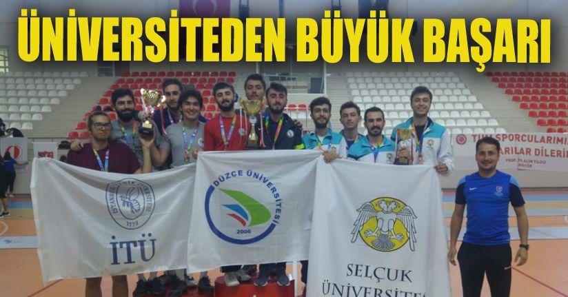 Düzce Üniversitesi Türkiye şampiyonu oldu