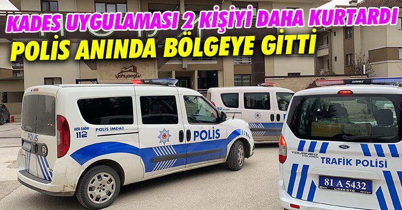 KADES'ten alarm alan polisler genç kızları kurtardı