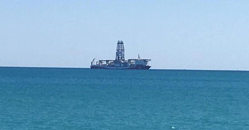 Sondaj gemisi 'Yavuz' Mersin açıklarında