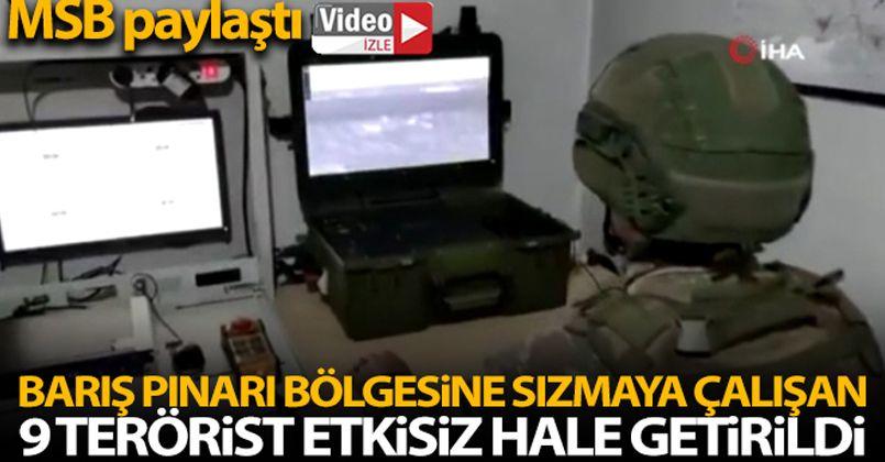 Barış Pınarı bölgesine sızmaya çalışan 9 PKK/YPG'li terörist öldürüldü