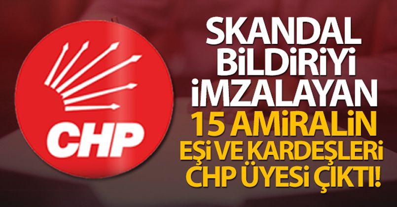 Skandal bildiriyi imzalayan 15 amiralin eşi ve kardeşleri CHP üyesi çıktı!