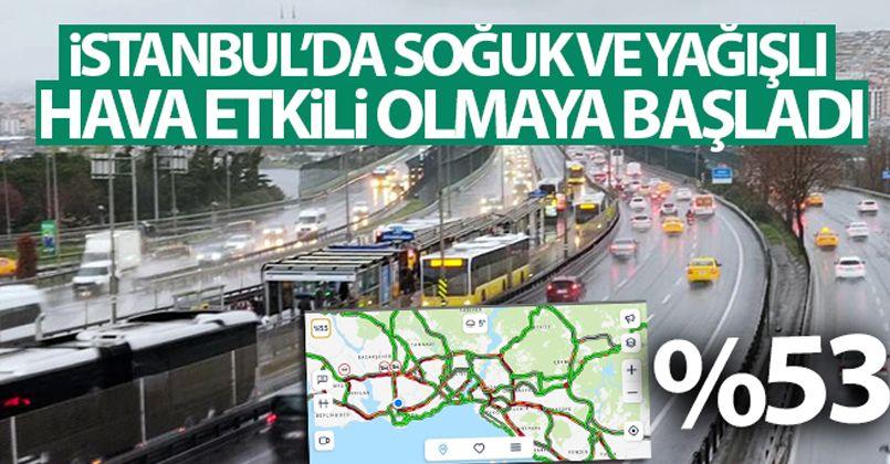 İstanbul'da soğuk ve yağışlı hava etkili olmaya başladı
