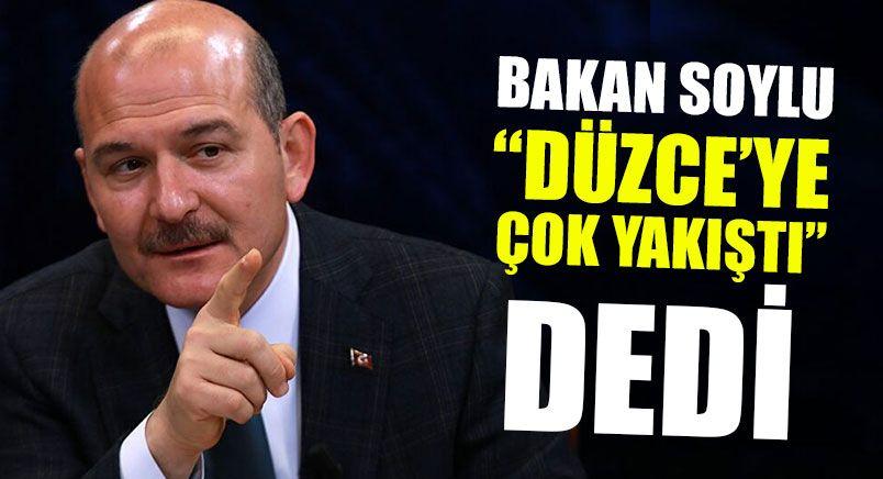 """Bakan Soylu """"Düzce'ye Çok Yakıştı"""" Dedi"""