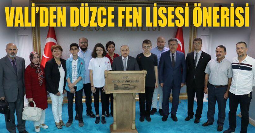 Vali dağlı Türkiye Birincilerini Kabul Etti