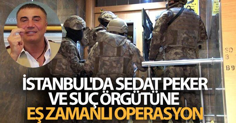 İstanbul'da Sedat Peker ve suç örgütüne eş zamanlı operasyon