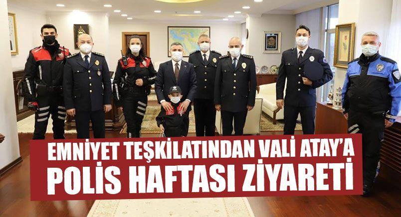 Emniyet Teşkilatından Vali Atay'a Polis Haftası Ziyareti