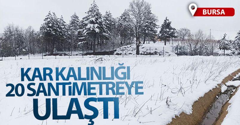 Bursa'nın merkez ilçelerinde kar kalınlığı 20 santimetreye ulaştı