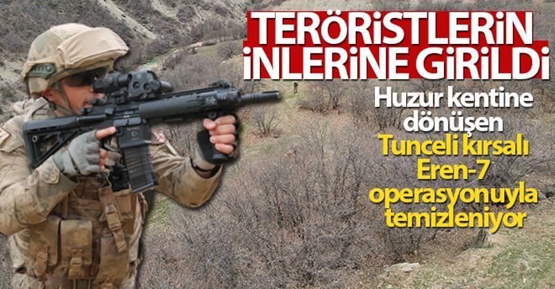 Huzur kentine dönüşen Tunceli kırsalı Eren-7 operasyonuyla temizleniyor