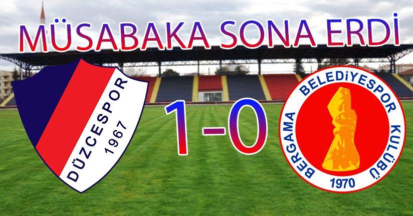 Düzcespor 1-0 Bergama Belediyespor