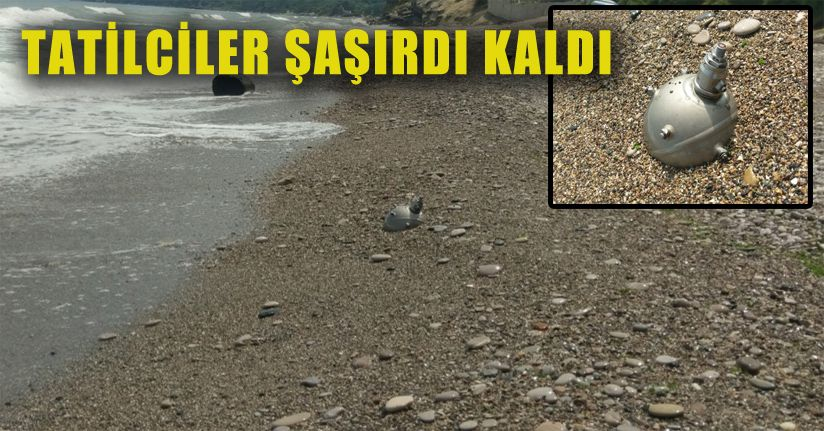 Akçakoca ilçesinde sahile mayını tetikleyicisi vurdu