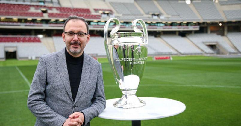 Bakan Kasapoğlu; 'UEFA Şampiyonlar Ligi Finali'ne hazırız'