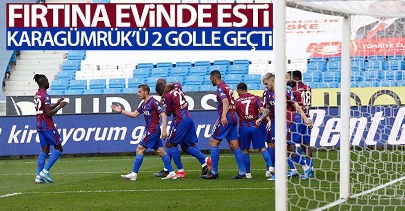 Trabzonspor evinde esti, Karagümrük'ü 2 golle geçti