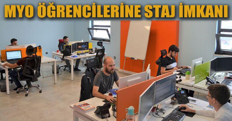 MYO  öğrencileri Türkiye'nin önde gelen yazılım şirketinde staj yapacak