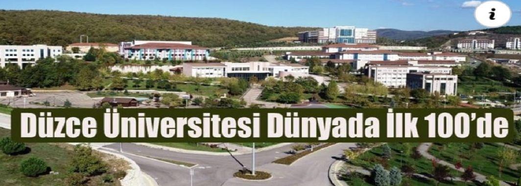 Düzce Üniversitesi Dünyada İlk 100'de