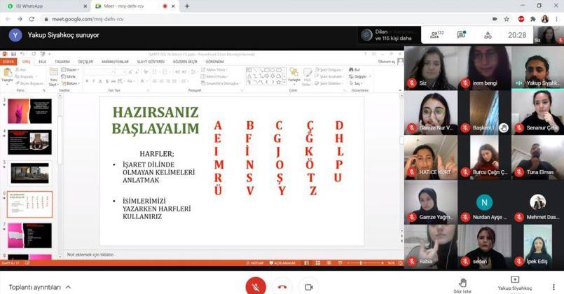 Çevrimiçi işaret dili eğitimi