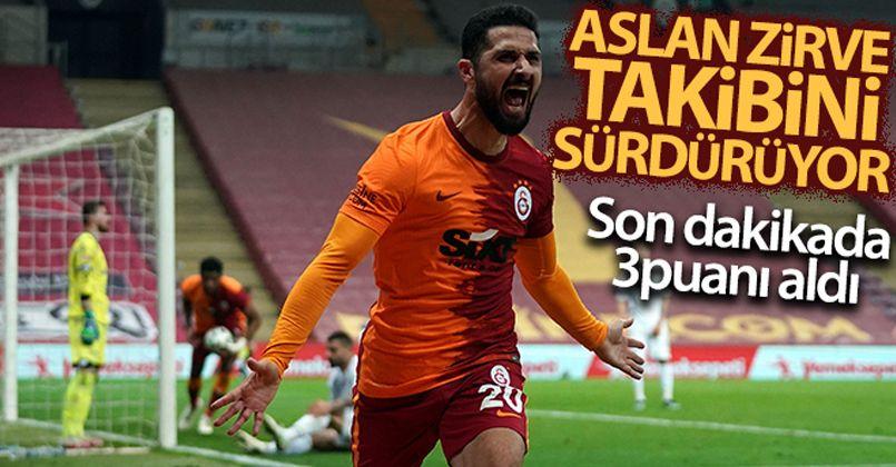 Galatasaray son dakikalarda nefes aldı