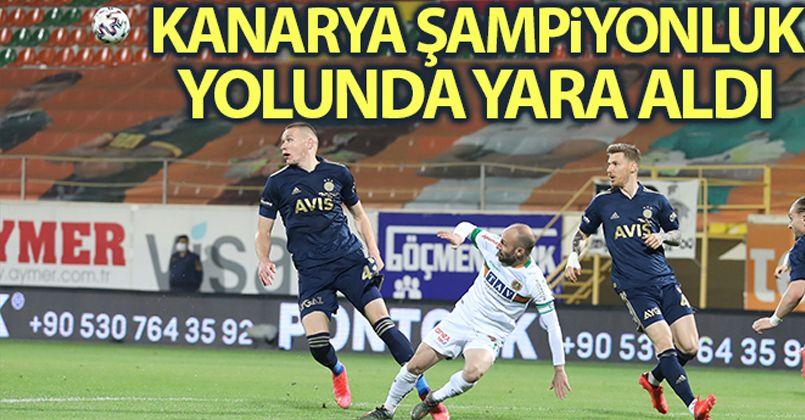 Fenerbahçe şampiyonluk yolunda yara aldı