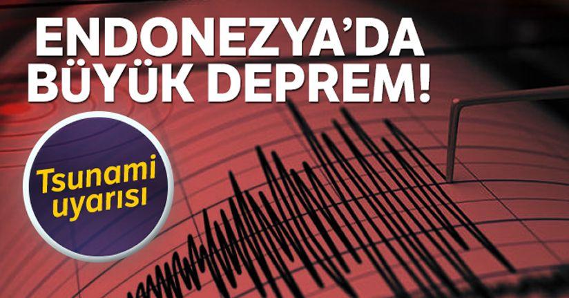 Endonezya'da şiddetli deprem!