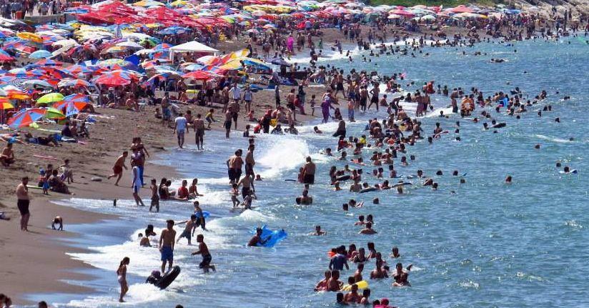 Plajlar doldu taştı
