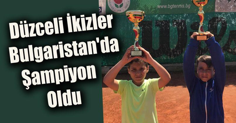 Düzceli İkizler Bulgaristan'da Şampiyon Oldu
