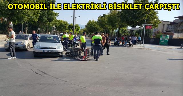 Hurdaya dönen elektrikli bisikleti polis kaldırdı
