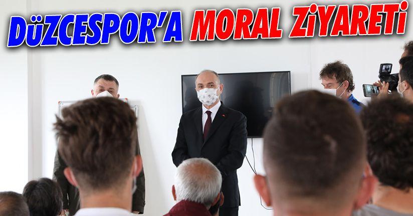 Deplasman öncesi Düzcespor'a moral ziyareti