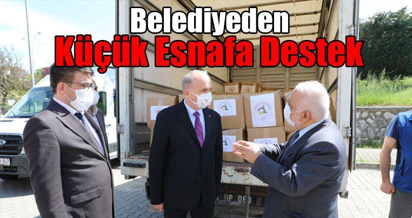 Belediyeden Küçük Esnafa Destek