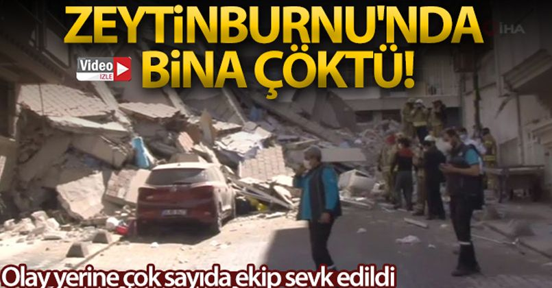 Zeytinburnu'nda 5 katlı bir bina çöktü