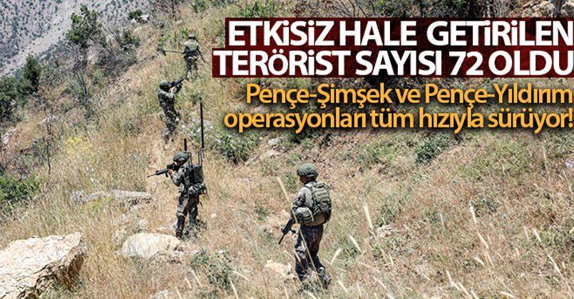 Irak'ın kuzeyinde 2 PKK'lı terörist daha etkisiz hale getirildi