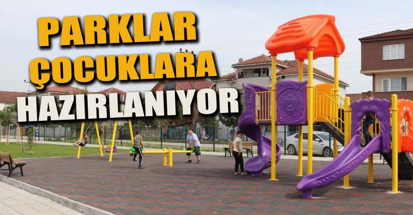 Parklar çocuklara hazırlanıyor