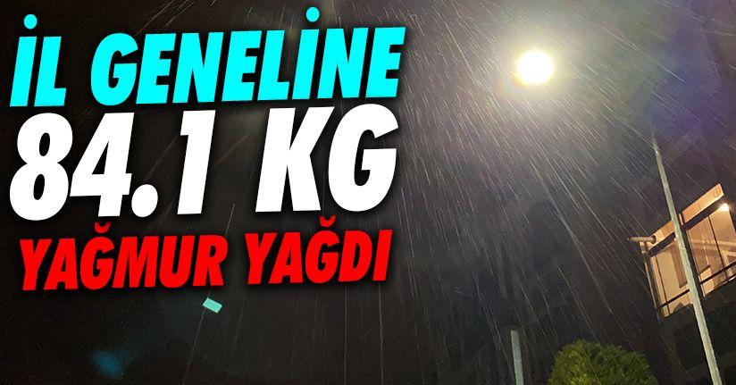 Düzce'yegece 84.1 kilogram yağış düştü