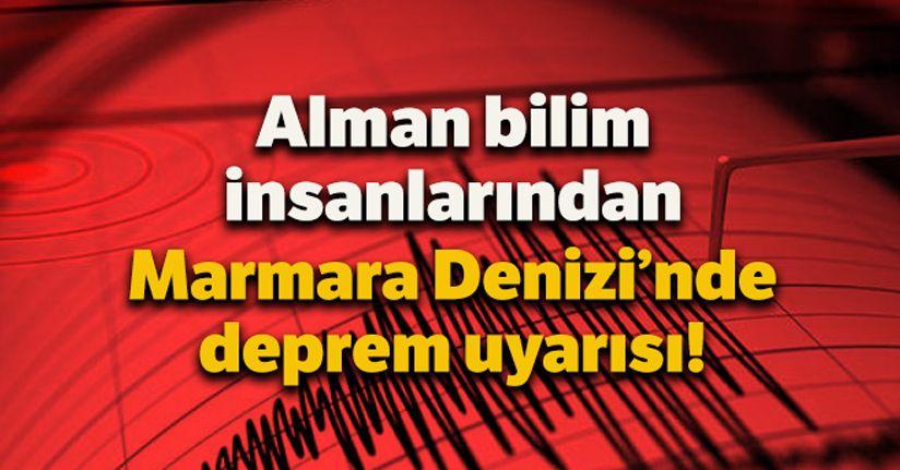 Alman bilim insanlarından Marmara Denizi'nde deprem uyarısı