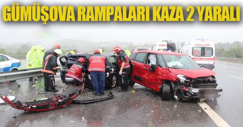 Gümüşova Rampaları Kaza 2 Yaralı