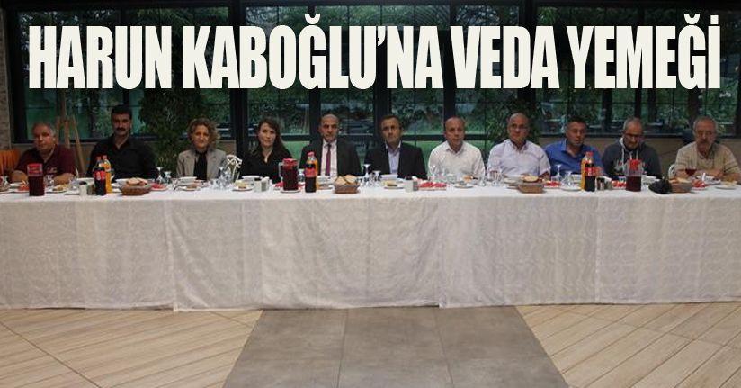 Harun Kabaoğlu'na veda yemeği