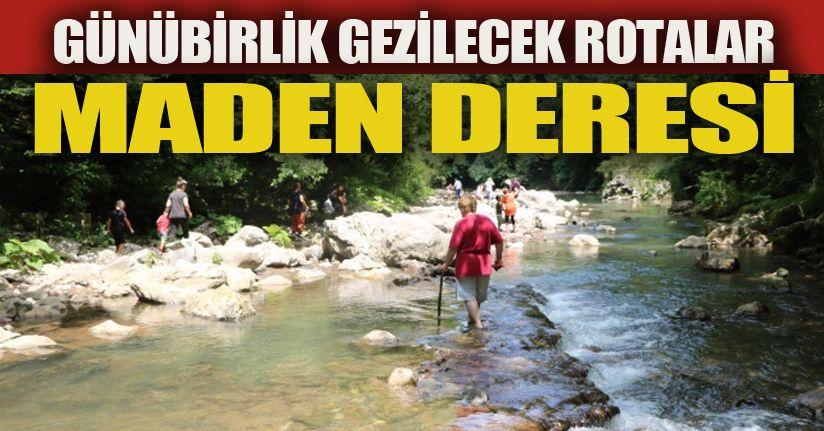 Sakarya'nın gizli cenneti Maden Deresi'ne büyük ilgi